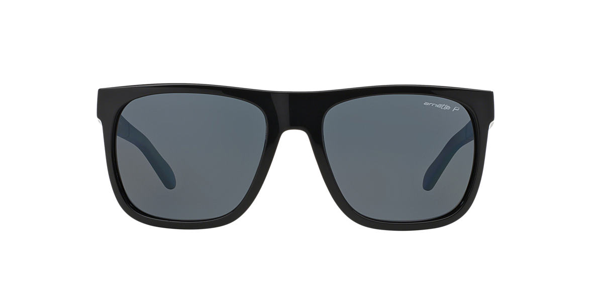 ARNETTE Black AN4143 FIRE DRILL Grey polarized lenses 58mm