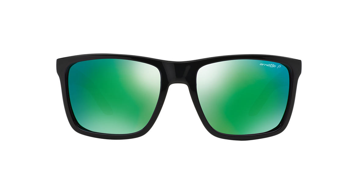 ARNETTE Black AN4177 WITCH DOCTOR Green polarized lenses 59mm