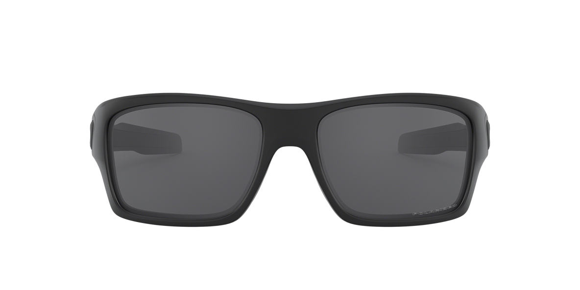 OAKLEY Black TURBINE Grey polarised lenses 63mm