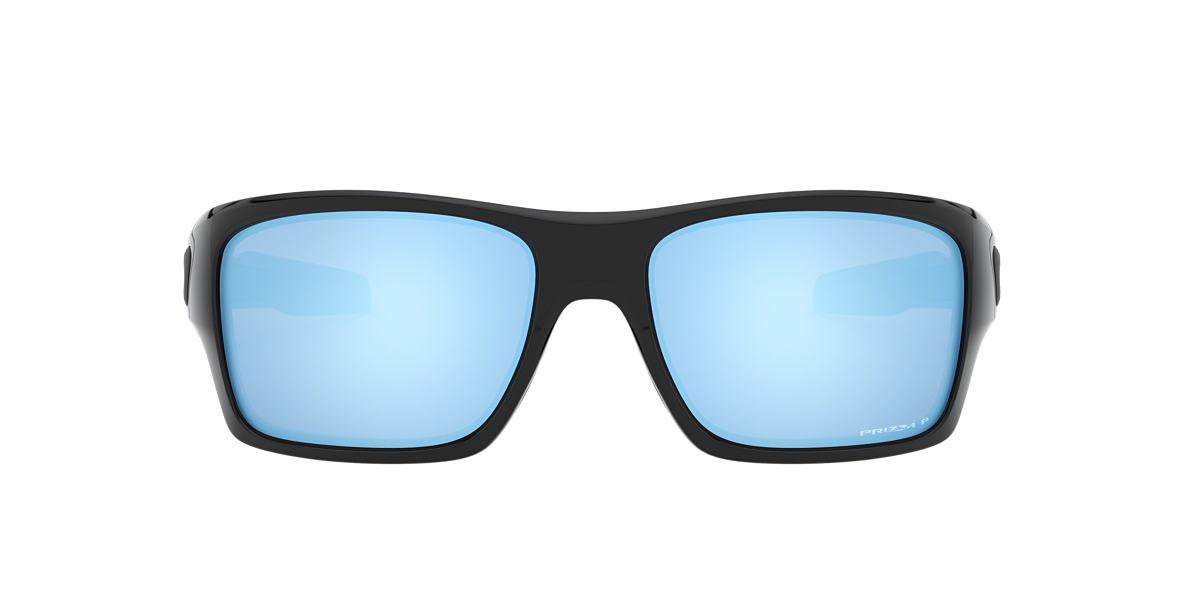 OAKLEY Black OO9263 TURBINE Blue polarized lenses 65mm