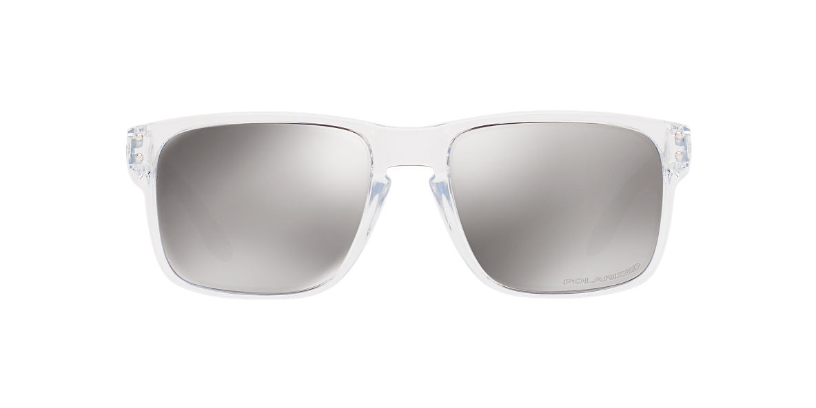 OAKLEY Clear OO9102 HOLBROOK Silver polarized lenses 55mm