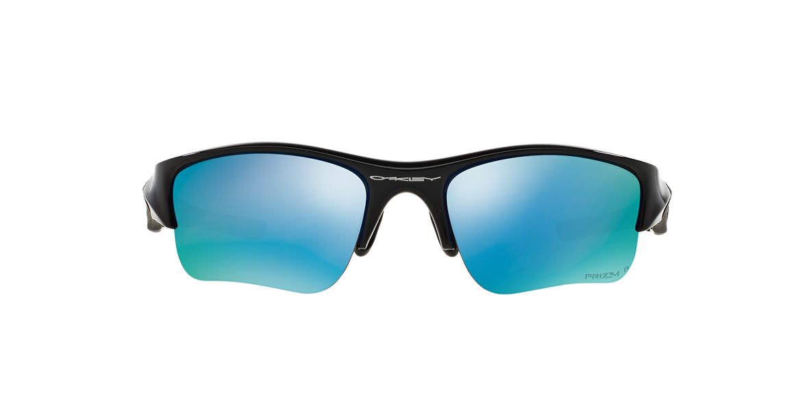 OAKLEY Black OO9011 FLAK JACKET XLJ Blue polarized lenses 63mm