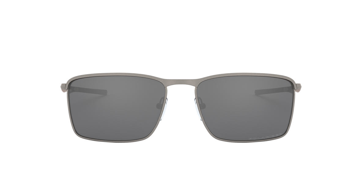 OAKLEY Silver OO4106 Black polarised lenses 58mm