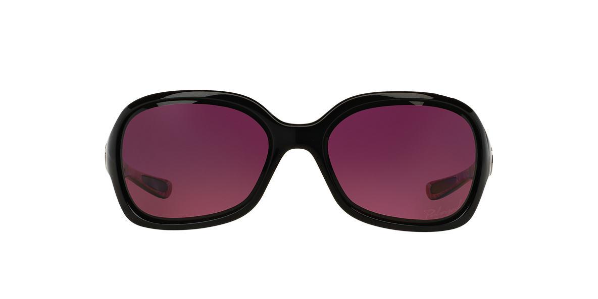 OAKLEY WOMENS Black OO9198 PULSE Burgundy polarized lenses 61mm