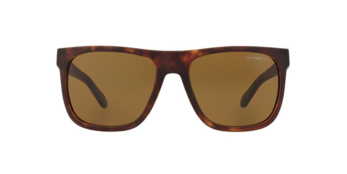 ARNETTE Tortoise Matte AN4143 FIRE DRILL Brown polarized lenses 58mm
