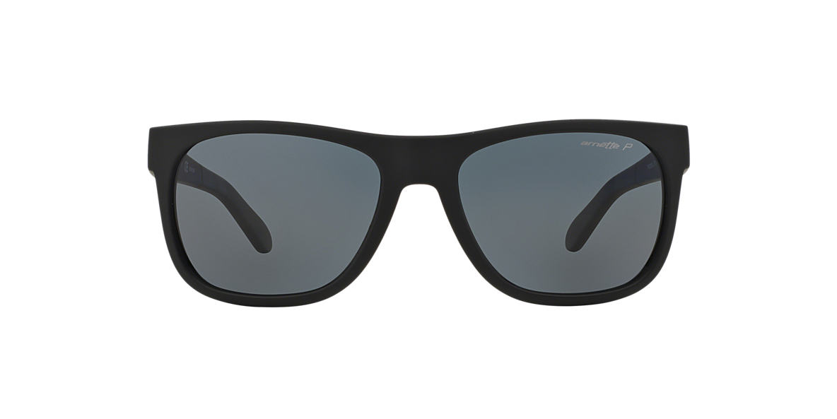ARNETTE Black Matte AN4206 57 Grey polarized lenses 57mm