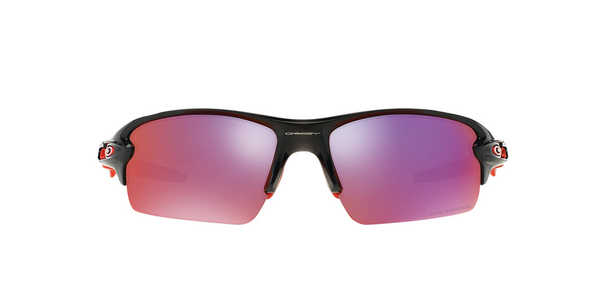 OAKLEY Black OO9295 59 FLAK 2.0 Red polarized lenses 59mm