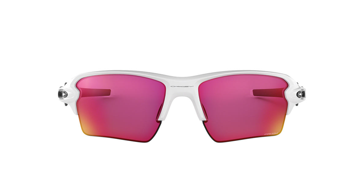 OAKLEY White OO9188 59 FLAK 2.0 XL Red lenses 59mm