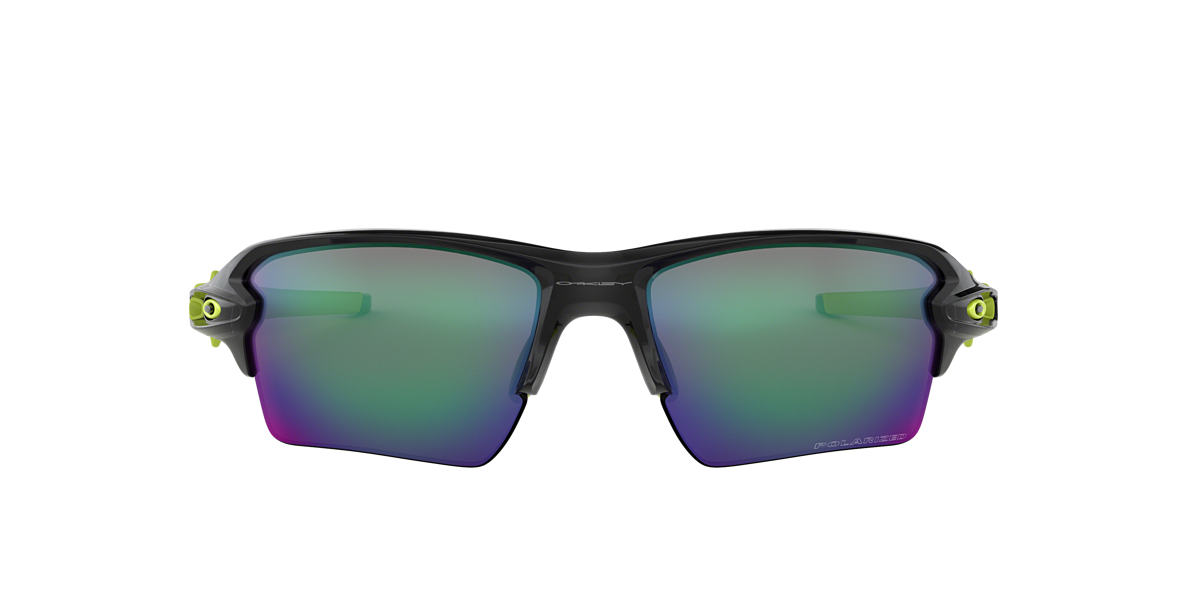 OAKLEY Black OO9188 59 FLAK 2.0 XL Green polarised lenses 59mm