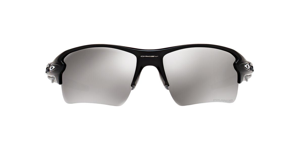 OAKLEY Black Matte OO9188 59 FLAK 2.0 XL Silver polarized lenses 59mm