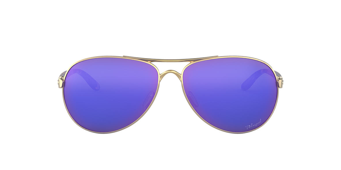 OAKLEY WOMENS Gold OO4079-18 Purple polarised lenses 59mm