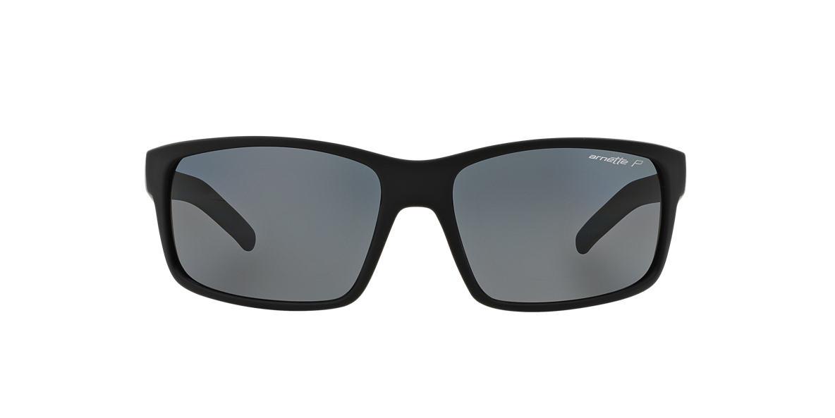 ARNETTE Black Matte AN4202 62 FASTBALL Grey polarized lenses 62mm