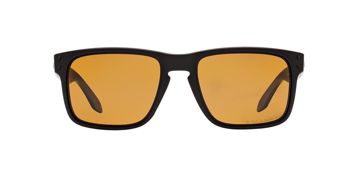 OAKLEY Black Matte OO9102 HOLBROOK Bronze polarized lenses 55mm