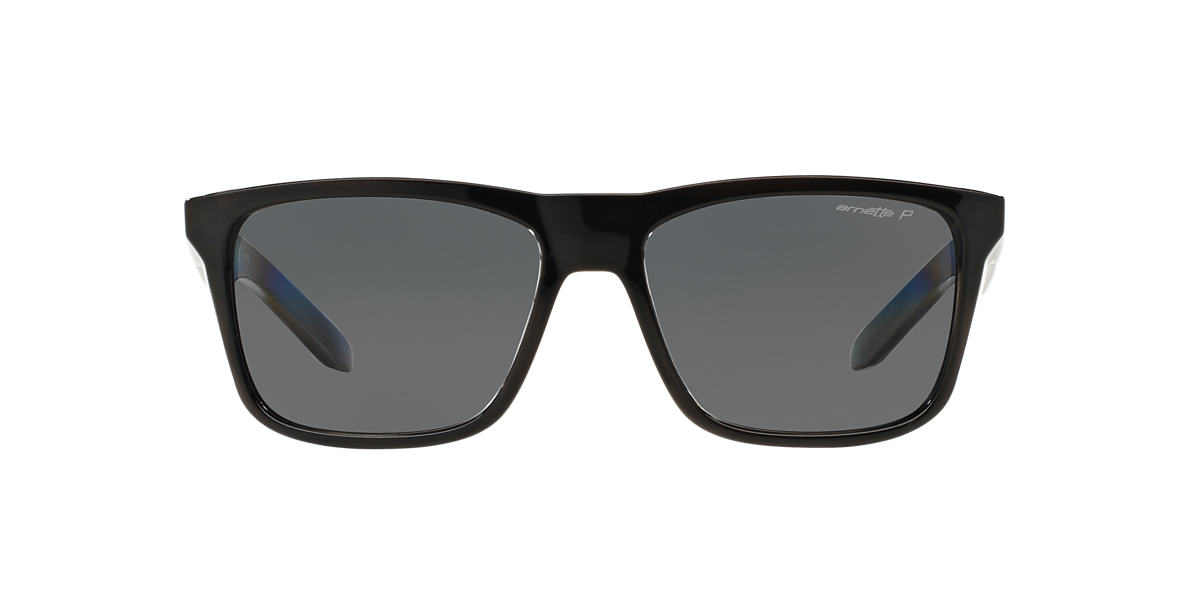 ARNETTE Black AN4217 57 SYNDROME Grey polarized lenses 57mm