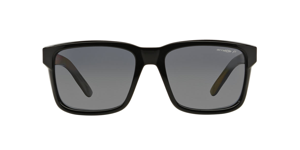 ARNETTE Black Shiny AN4218 57 SWINDLE Grey polarized lenses 57mm