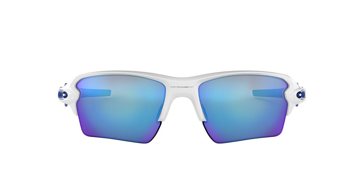 OAKLEY White OO9188 59 FLAK 2.0 XL Blue lenses 59mm