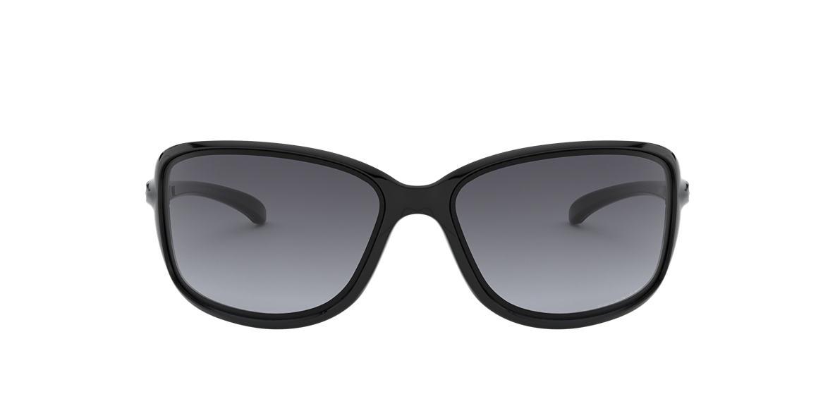 OAKLEY WOMENS Black Shiny OO9301 61 COHORT Grey polarized lenses 61mm