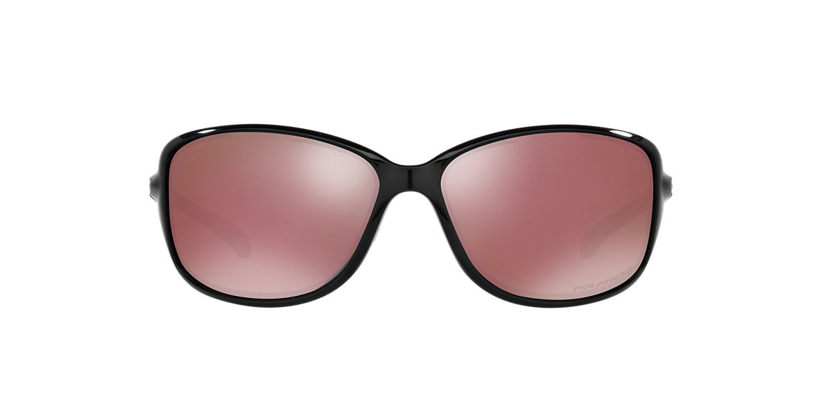 OAKLEY WOMENS Black OO9301 61 COHORT Pink polarized lenses 61mm