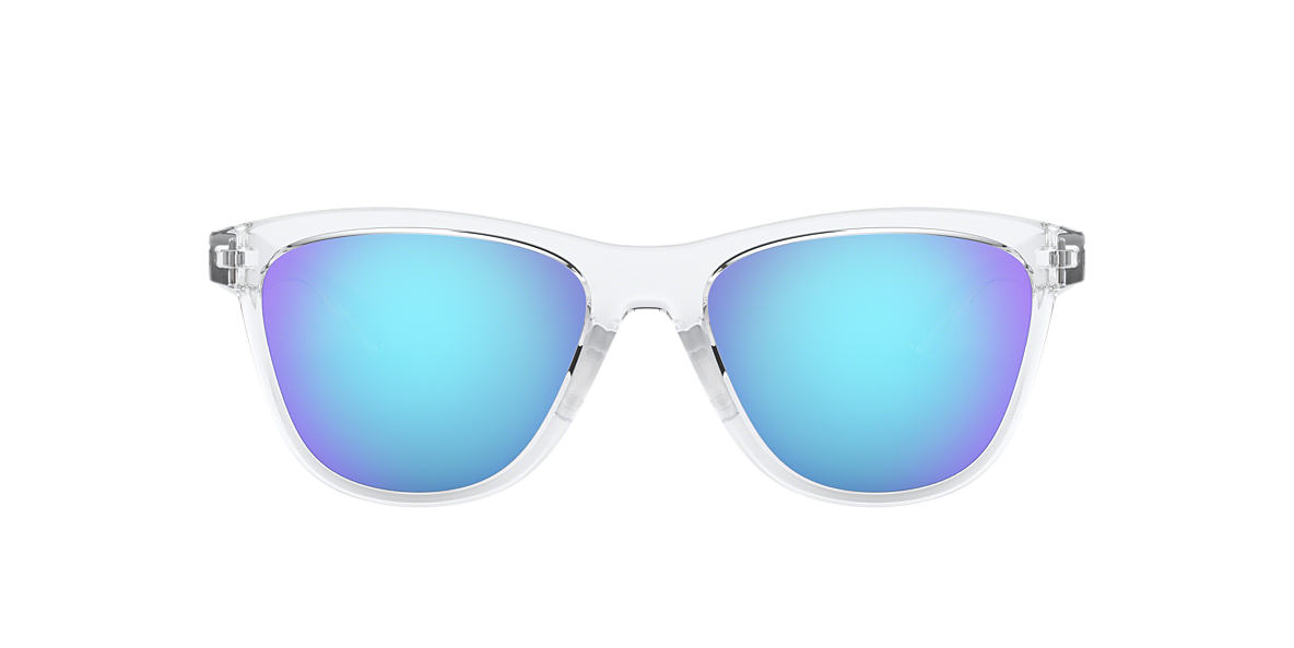 oakley blue and white sunglasses  Oakley Women\u0027s MOONLIGHTER 53 Blue \u0026 Clear/White Sunglasses ...