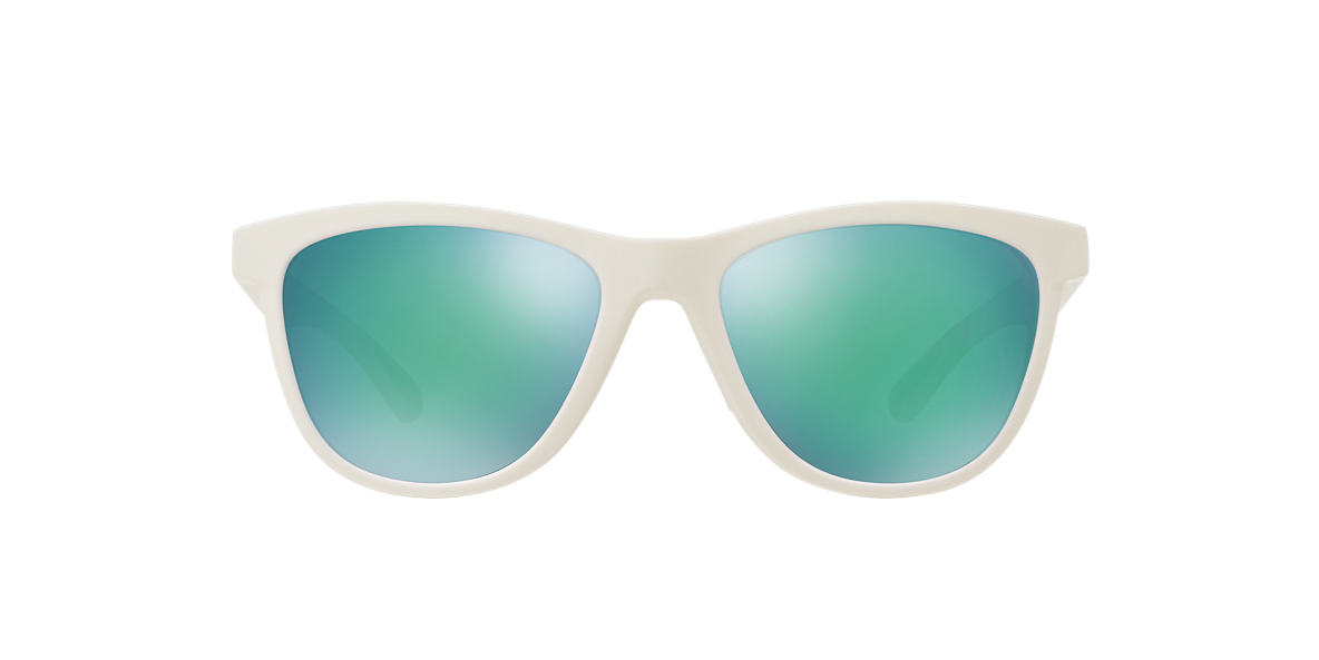 OAKLEY WOMENS Clear/White MOONLIGHTER Green polarised lenses 53mm