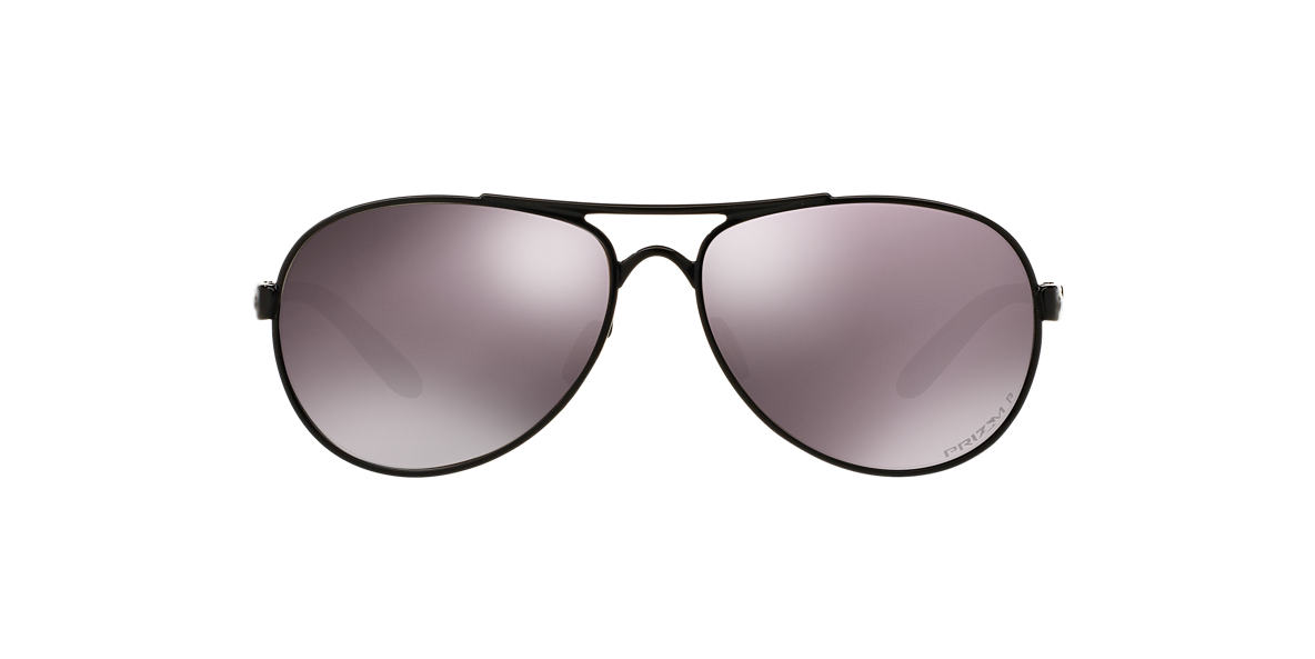 OAKLEY WOMENS Black TIE BREAKER Brown polarised lenses 56mm