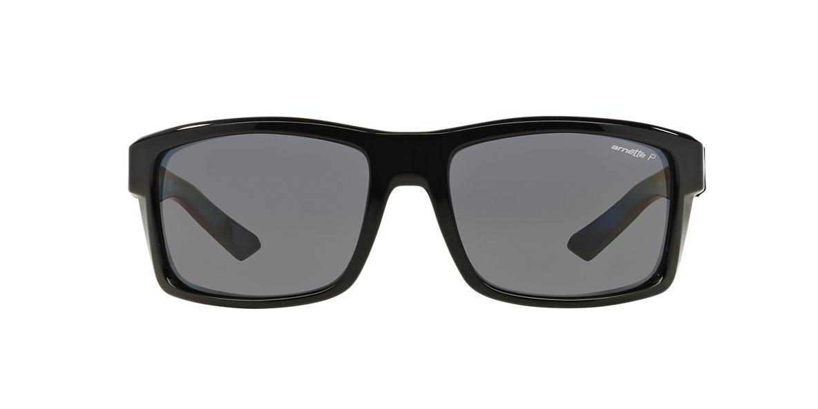 ARNETTE Black Shiny AN4216 61 CORNER MAN Grey polarized lenses 61mm