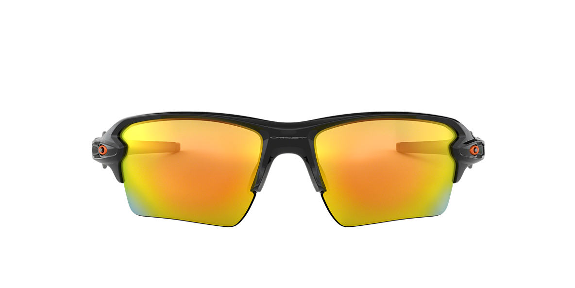 OAKLEY Black Shiny OO9188 59 FLAK 2.0 XL Orange lenses 59mm