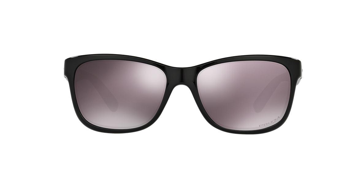 OAKLEY WOMENS Black FOREHAND Brown polarised lenses 57mm