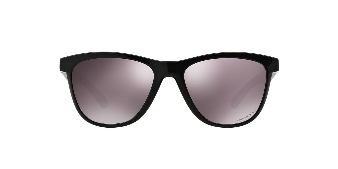 OAKLEY WOMENS Black MOONLIGHTER Brown polarised lenses 53mm