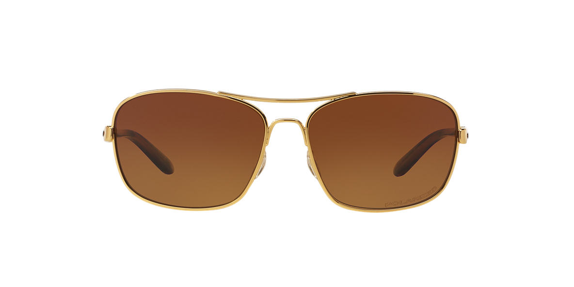 OAKLEY WOMENS Gold Shiny OO4116 58 SANCTUARY Brown polarized lenses 58mm