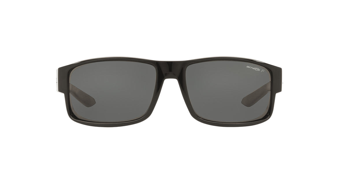 ARNETTE Black AN4224 59 BOXCAR Grey polarised lenses 59mm