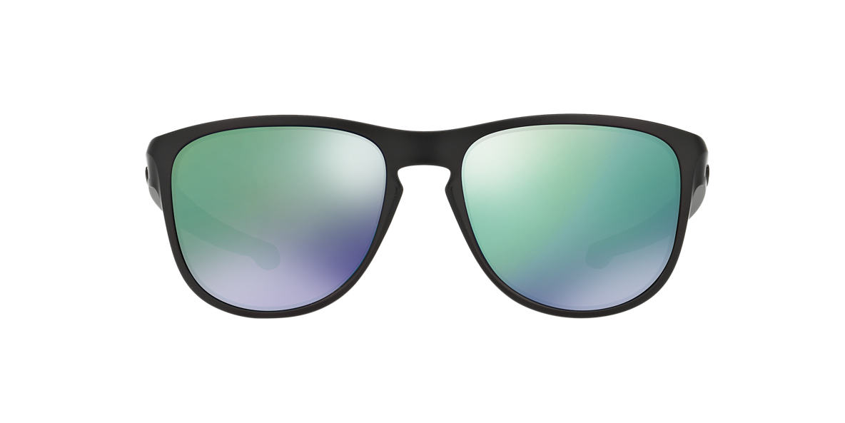 OAKLEY Black Matte OO9342 57 SLIVER R Green lenses 57mm