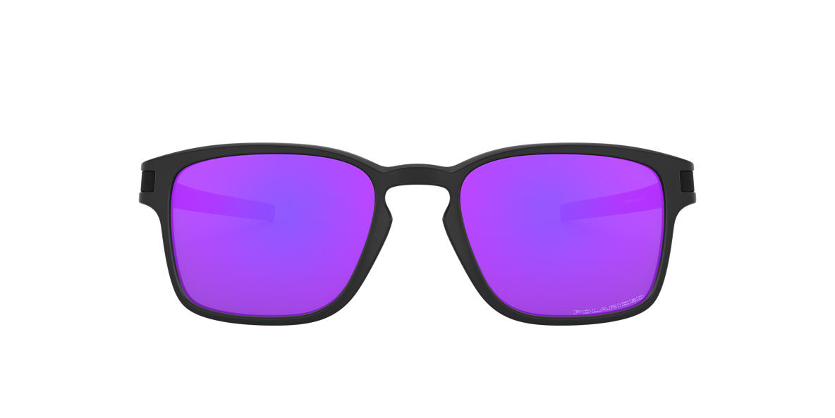 OAKLEY Black Matte OO9353 52 LATCH SQ Purple polarized lenses 52mm