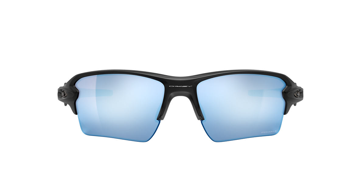 OAKLEY Black Matte OO9188 59 FLAK 2.0 XL Blue polarized lenses 59mm