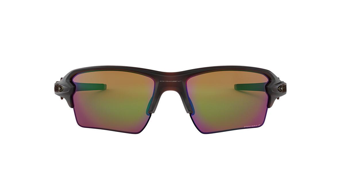 OAKLEY Brown OO9188 59 FLAK 2.0 XL Green polarized lenses 59mm