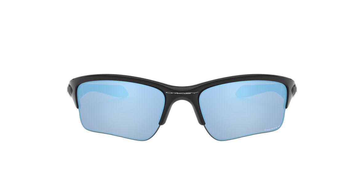 OAKLEY Black OO9200 QUARTER JACKET Blue polarized lenses 61mm