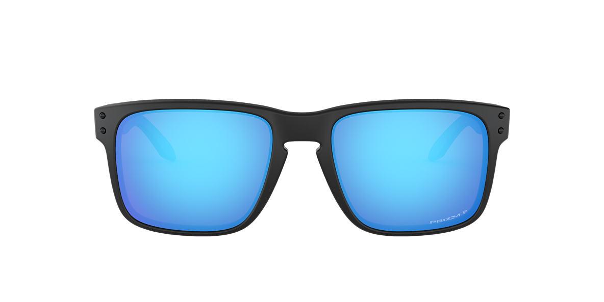 black and blue oakley sunglasses d1xw  Oakley OO9102 HOLBROOK PRIZM SAPPHIRE 57 Blue & Black Matte Polarized  Sunglasses  Sunglass Hut USA