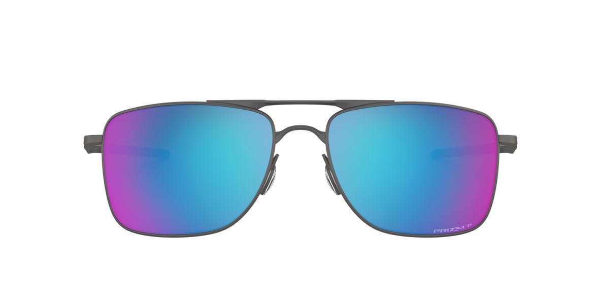 OAKLEY Gunmetal Matte OO4124 62 GAUGE 8 Blue polarized lenses 62mm