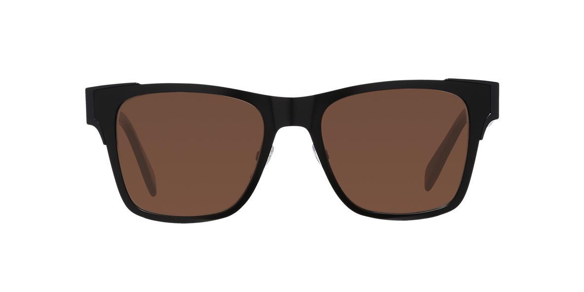 ALEXANDER MCQUEEN Black AMQ0011S  53 Brown lenses 53mm