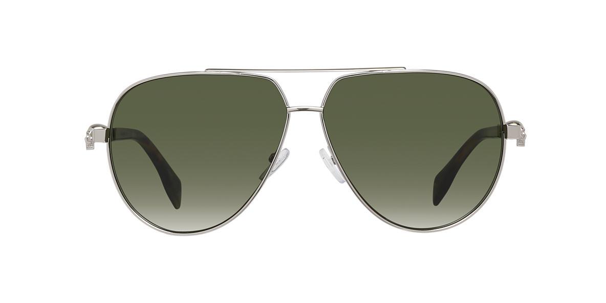 ALEXANDER MCQUEEN Silver AMQ0018S  63 Green lenses 63mm