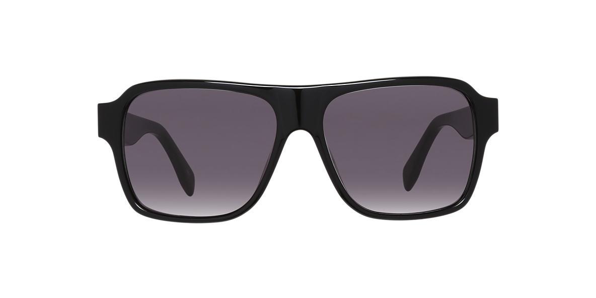 ALEXANDER MCQUEEN Black AMQ0036S  57 Grey lenses 57mm