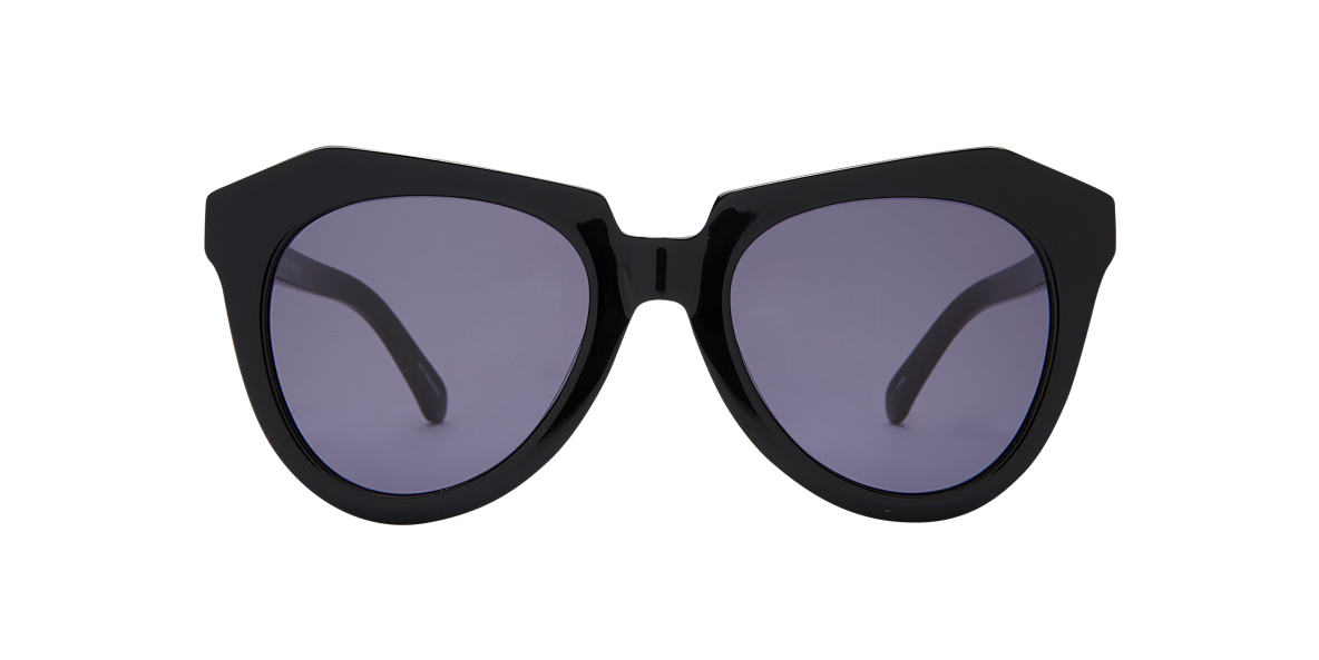 KAREN WALKER Black NUMBER ONE Grey lenses 51mm