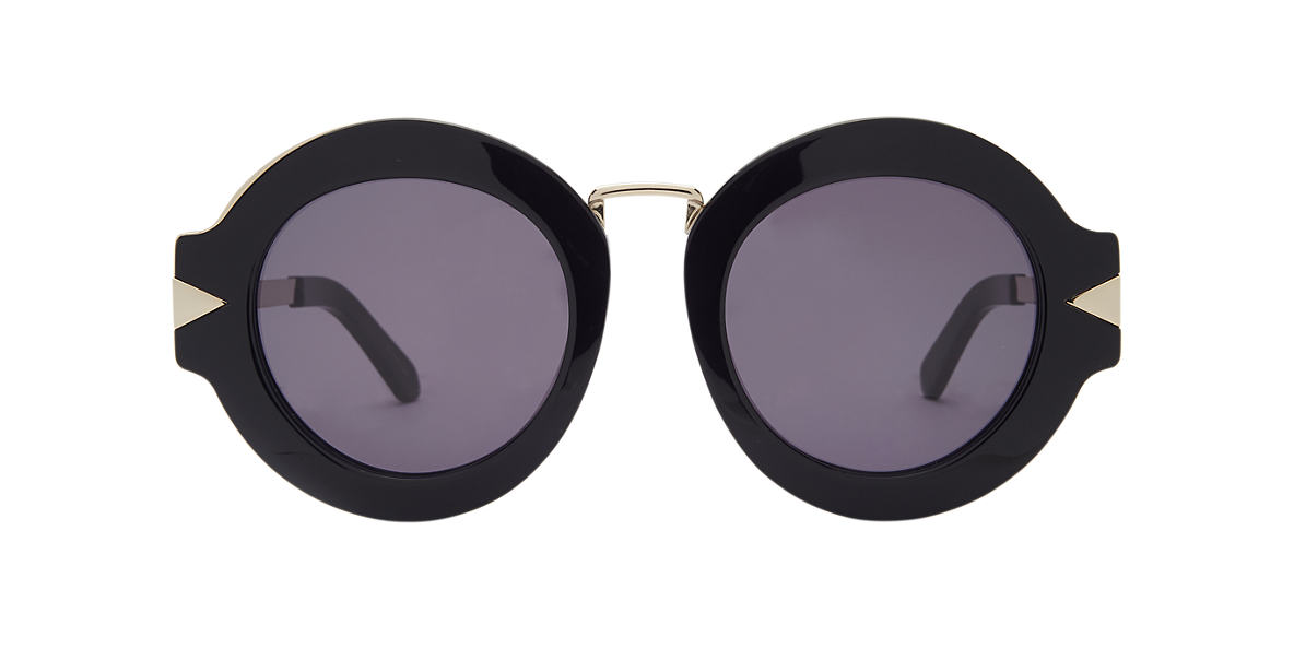 KAREN WALKER Black MAZE Grey lenses 47mm
