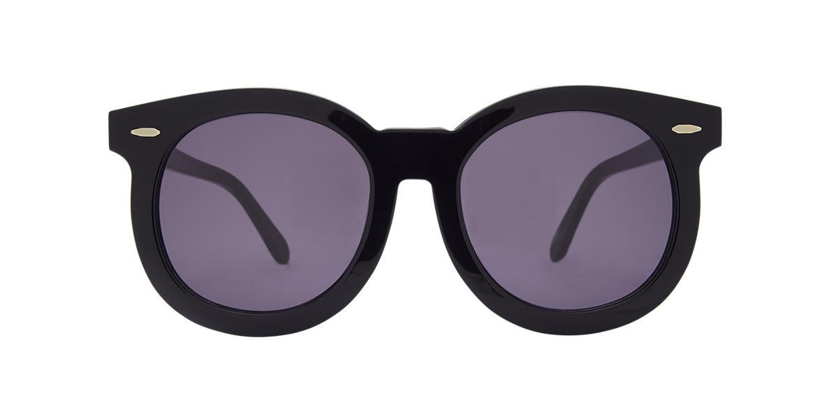 KAREN WALKER Black SUPER DUPPER TH Grey lenses 53mm