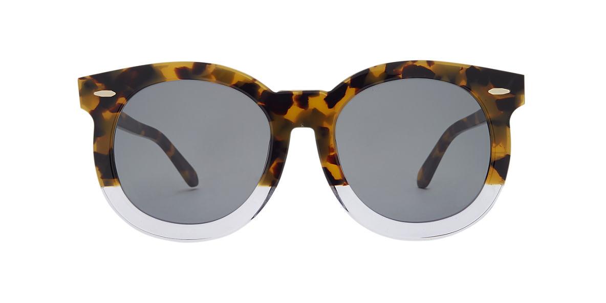 KAREN WALKER Tortoise SUPER DUPPER TH Green lenses 53mm