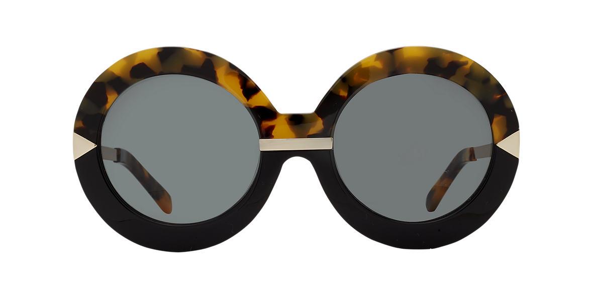 KAREN WALKER Tortoise HOLLYWOOD POOL Green lenses 52mm