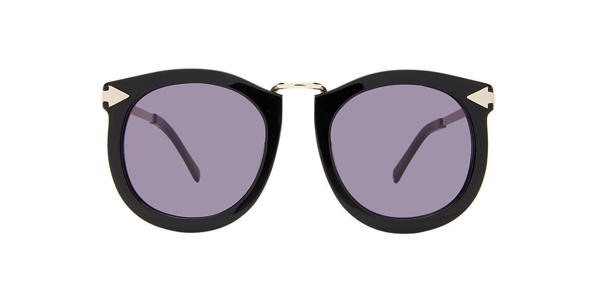 KAREN WALKER Black SUPRLUNAR Grey lenses 53mm