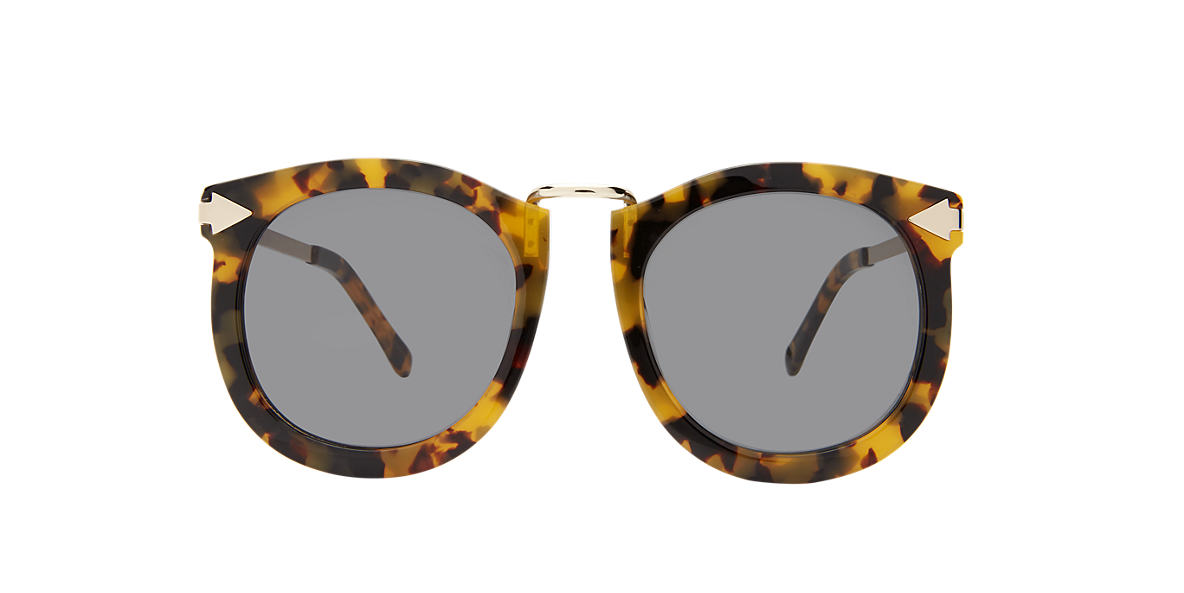 KAREN WALKER Tortoise SUPRLUNAR Green lenses 53mm
