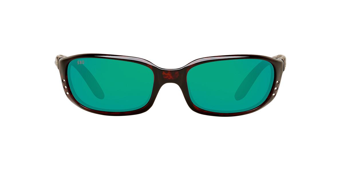 COSTA DEL MAR Brown BRINE Green polarized lenses 64mm