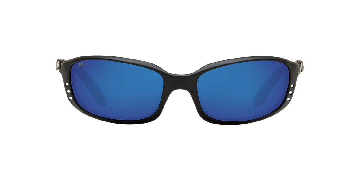 COSTA DEL MAR Black Matte BRINE Blue polarized lenses 64mm